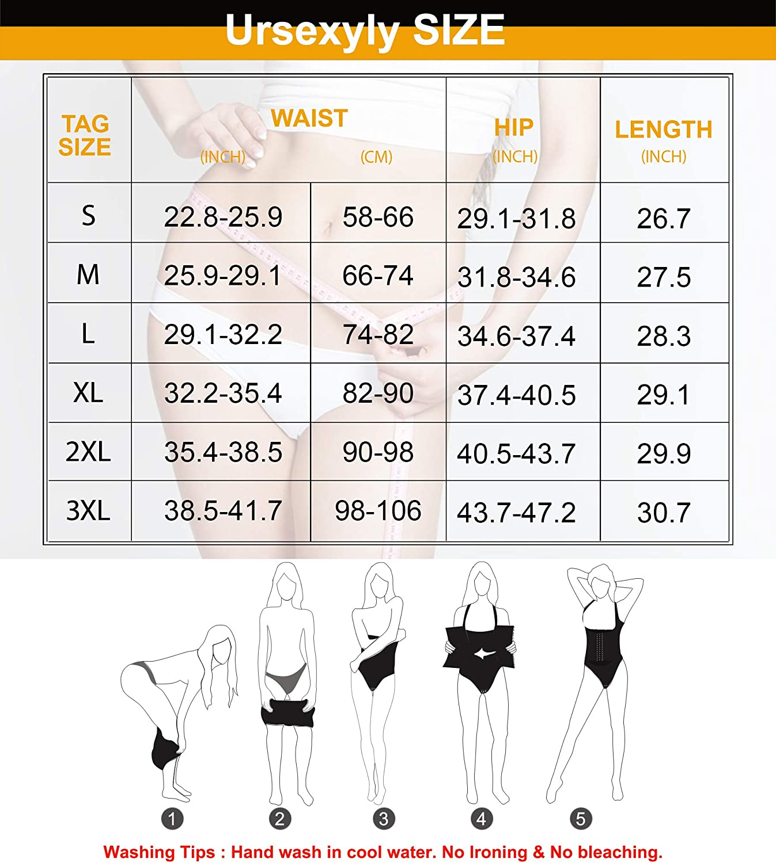 Women Waist Trainer Bodysuit Tummy Control Corset Full Body Shaper Cincher Tank Top Shapewear with Adjustable Straps Hooks