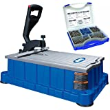 Kreg Db210 Foreman Pocket-hole Machine, Blue with Screw Kit #Sk03 675 of the 5 Most Common Pocket Screws in a Divided Case