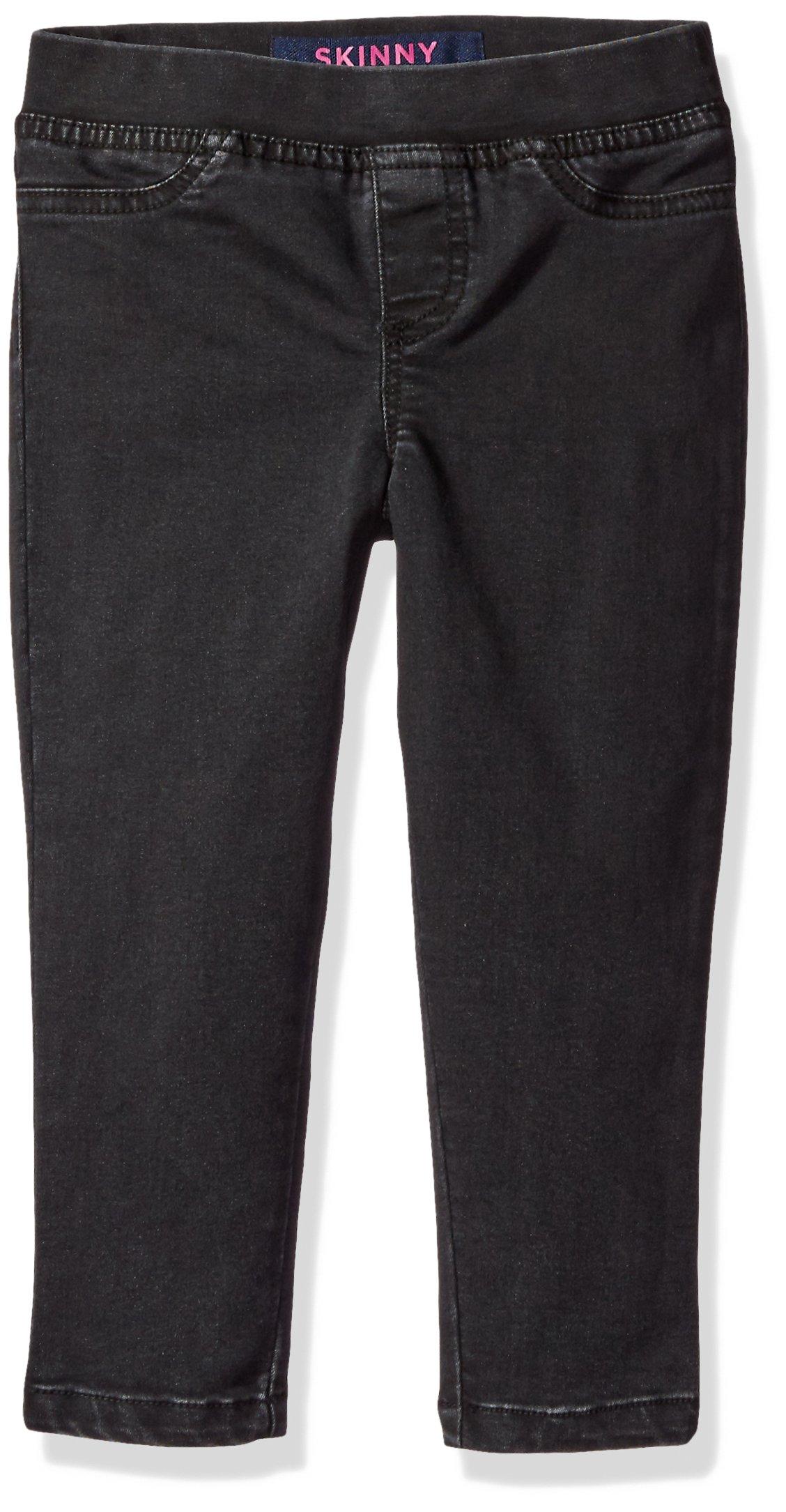 French Toast Girls' Big Pull-On Denim Pant, Black