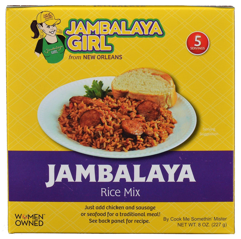 Jambalaya Girl Jambalaya Rice Mix, 8-ounce (Pack of 5)