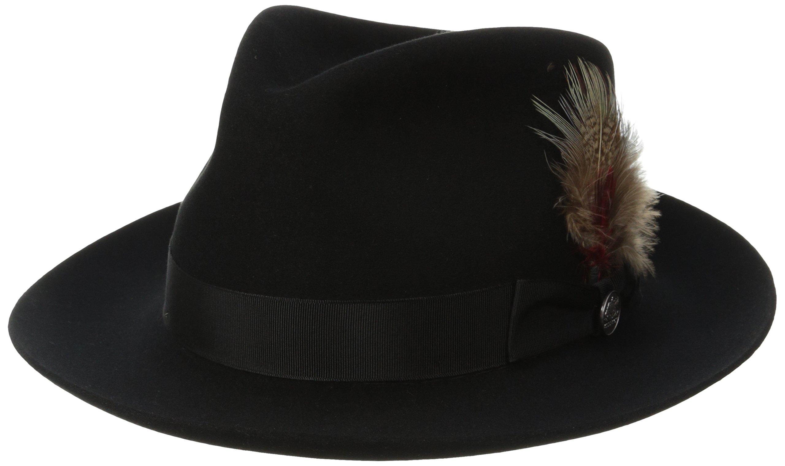 Stetson Men's Downs Royal Quality Fur Felt Hat, Black, 7.125