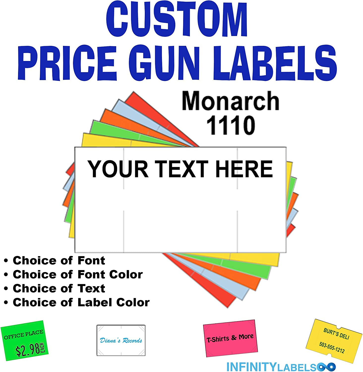 Monarch 1110 pink labels for one line label price gun 2 SLEEVES ink included