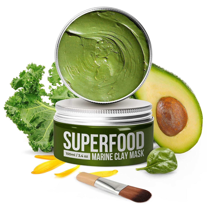 100% Vegan Dead Sea Mud Mask with Avocado & Superfoods