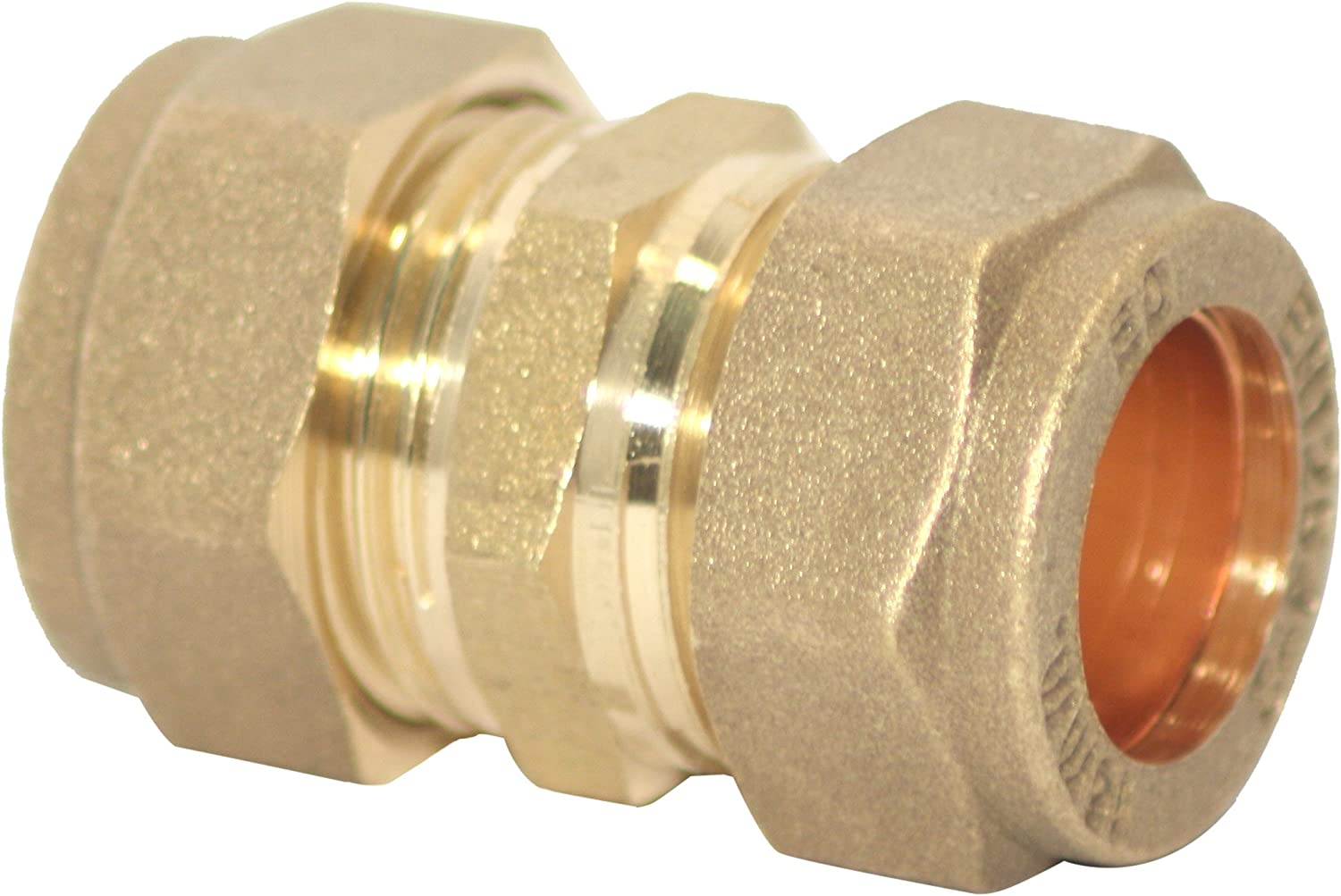 Plumb-Pak Compression Straight Coupler 15mm Pack of 5