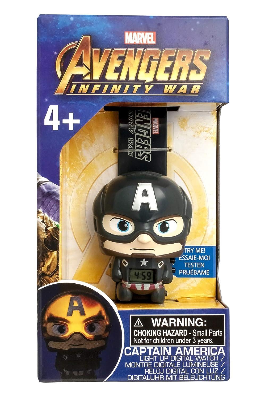 Amazon.com: BulbBotz Boys Marvel Avengers Captain America Digital Plastic Watch, Color: Blue (Model: 2021838): Watches