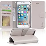 """Arae wallet case for iPhone 6s Plus / iPhone 6 plus [Kickstand Feature] PU leather with ID&Credit Card Pockets For Iphone 6 Plus / 6S Plus 5.5"""" (not for 6/6s) (Grey)"""