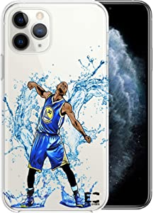 iPhone 11 Case Epic Cases Ultra Slim Thin Light Wireless Charging Crystal Clear Basketball Series Soft Transparent TPU Case Cover Apple (Curry Warriors, iPhone 11)