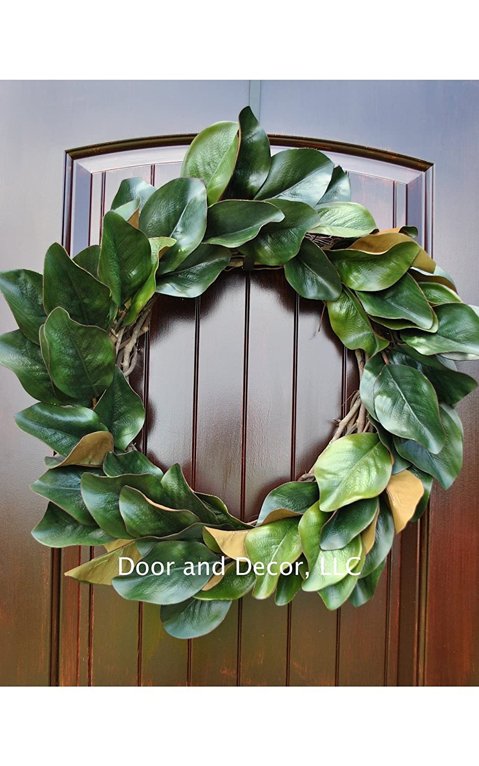Amazon Com Handmade Magnolia Leaf Wreath For Front Door Or Interior