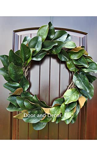 Merveilleux Handmade Magnolia Leaf Wreath For Front Door Or Interior Home Decor In  Multiple Sizes Farmhouse Style