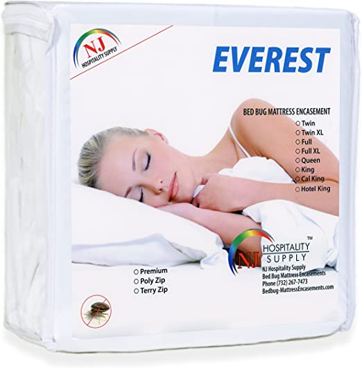 Mattress Cover//Protector Bed Bug Waterproof Cotton Topper Zipper Encasement Full