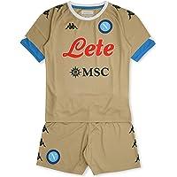 SSC Napoli Equipación Competición Portero Casa Niño 2020/21 Kit Home, Unisex niños