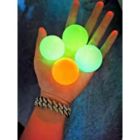 Luminescent Stress Relief Balls Sticky Ball, Glow in The Dark Ceiling Balls,Stick to The Wall and Slowly Fall Off, Figit…