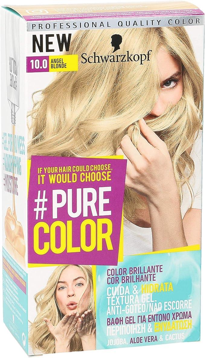 PURE COLOR tinte Angel Blonde Nº 10.0 caja 1 ud: Amazon.es ...