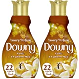 Downy Luxury Perfume Collection Concentrate Fabric Softener Feel Luxurious 880ml, Dual Pack