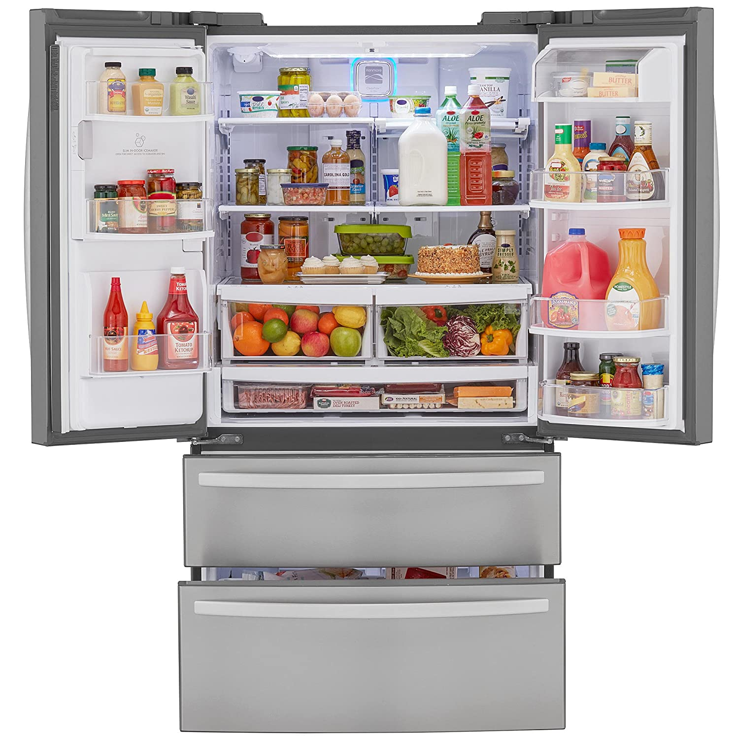 Whirlpool Gold French Door Refrigerator Reviews Part - 43: Amazon.com: Kenmore 72495 26.7 Cu. Ft. 4-Door French Door Refrigerator With  Dual Freezer Drawers, Active Finish: Appliances