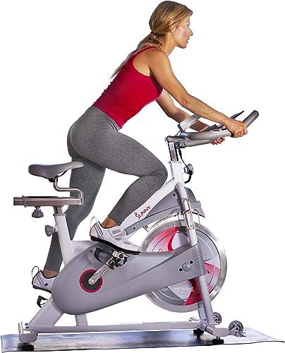 Sunny Health Fitness Magnetic Belt Drive Premium Indoor Cycling Bike