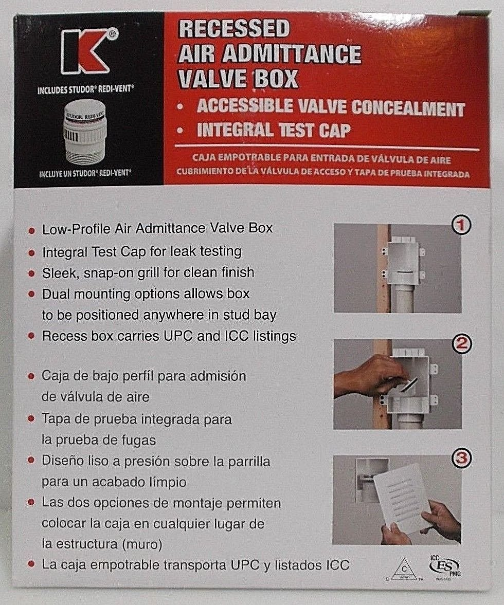 Keeney 1-1/2-in Plastic Air Admittance Vent Kit with Studor Vent 82679K