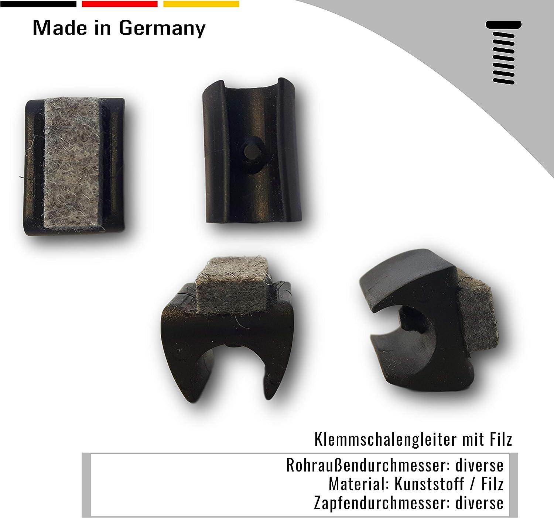para tubos redondos 4 abrazaderas de deslizamiento de pl/ástico con fieltro negro