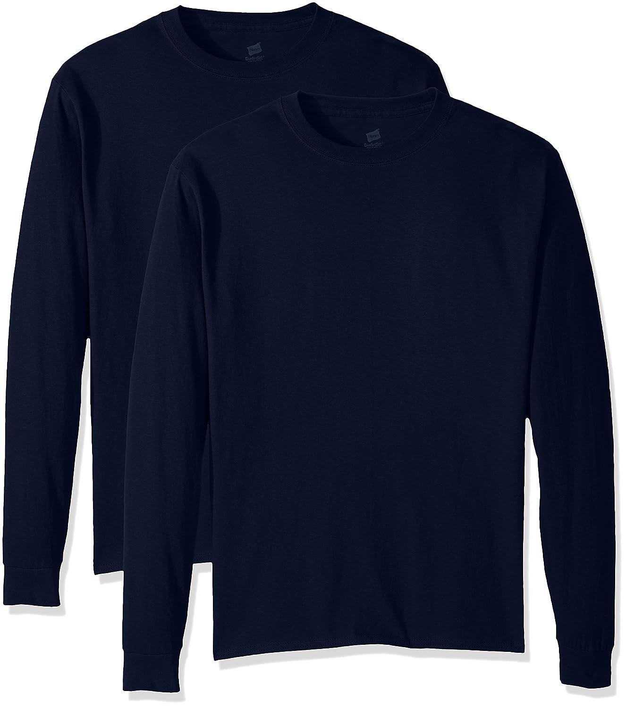 Hanes Men's ComfortSoft Long-Sleeve T-Shirt (Pack of 2) Hanes Branded Printwear O5288