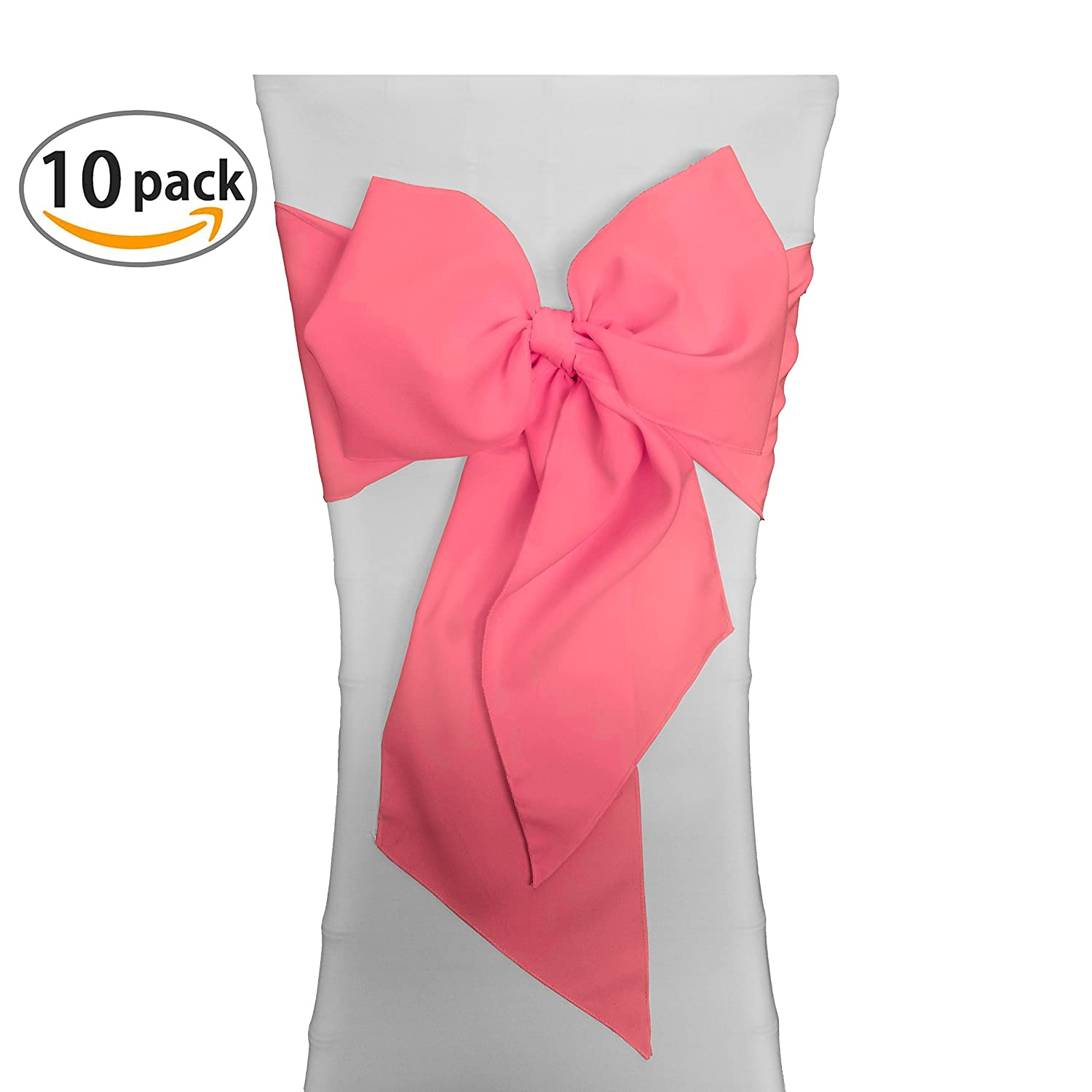 Amazon LA Linen Polyester Poplin Chair Bow Sashes 7 by 108