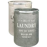 Bamodi Wäschekorb Sortierer - 2er Set Wäschesammler spart Zeit beim Sortieren