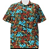 A Personal Touch Women's Plus Size Short Sleeve Button-Front Tunic with Shirring