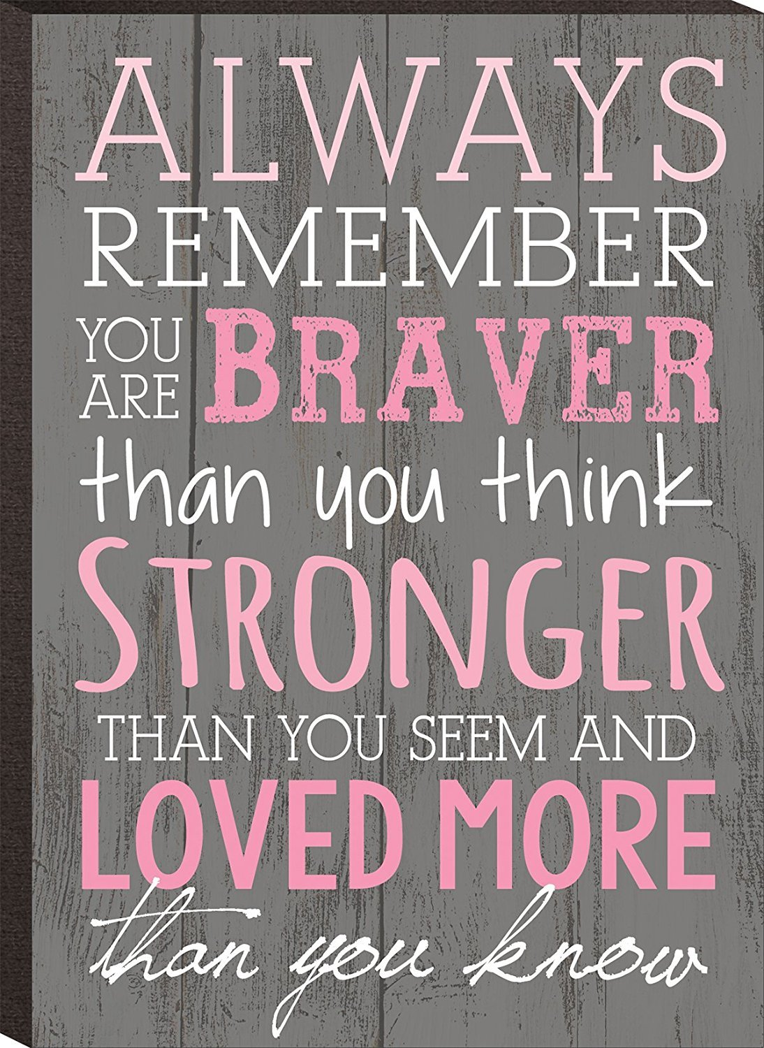 Always Remember You Are Braver Than You Think