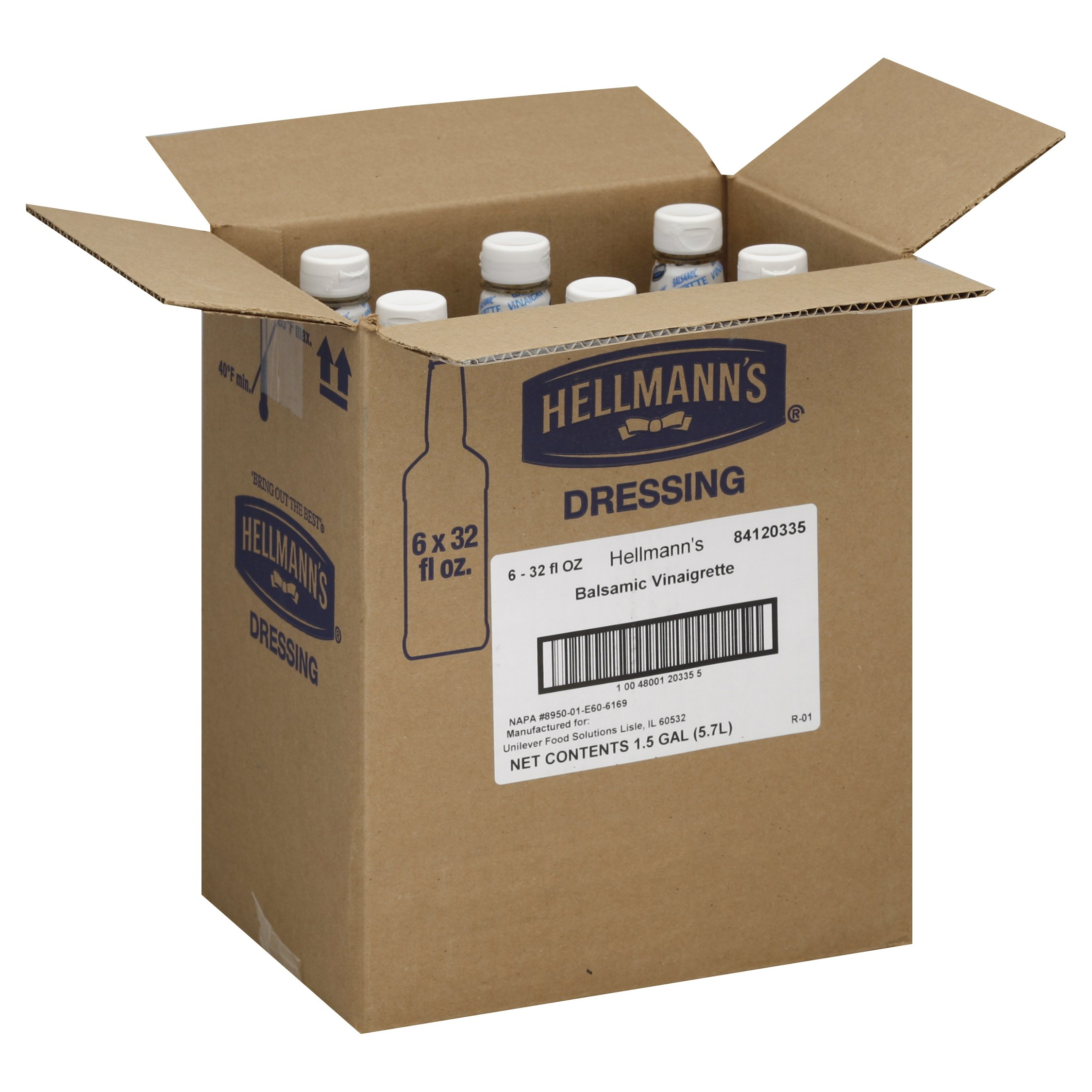 Hellmann's Foodservice Salad Bar Bottles Balsamic Vinaigrette 192 oz