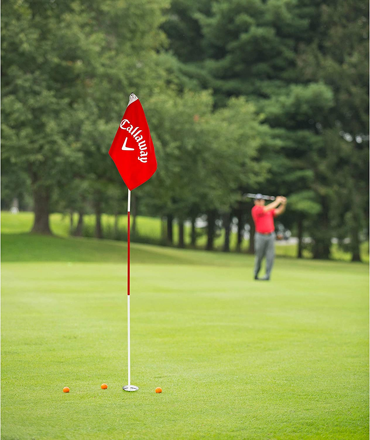 Flag Pole /& Cup Set Red Callaway Closest-to-The-Pin