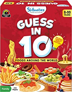 Skillmatics Guess in 10 Foods Around The World | Card Game of Smart Questions | Super Fun for Travel, Family Game Night & Summer Camps | Gifts for Ages 8-99