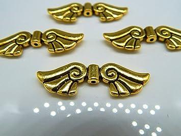 10 Große Engelflügel Metall Flügel 44mm Gold Antik Flügelperlen Für Zb Xl Schutzengel Perlenengel Basteln