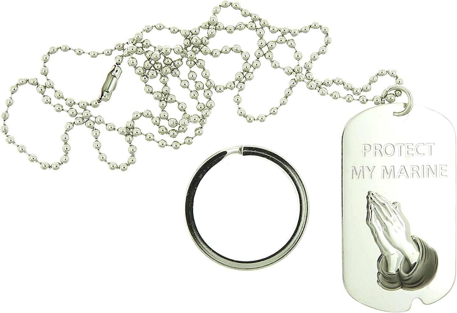 Michael Dog Tag with Keychain EAGLE CREST St