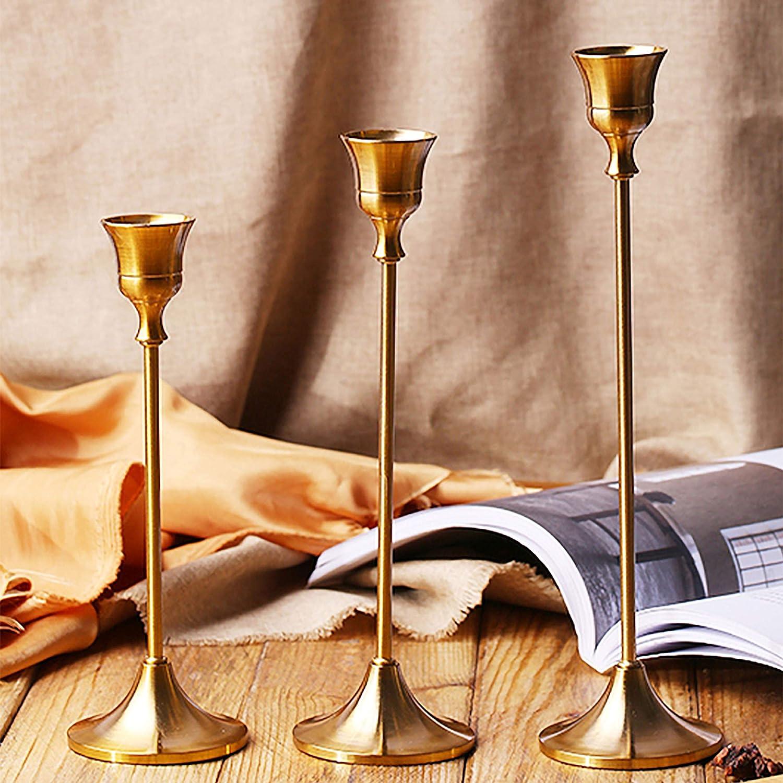 Matrimonio YAVO-EU Candelabro Candelabri portacandele Titolari in Metallo Candeliere con Romanticismo 6,5x15 cm Festa Atmosfera familiare Vacanze
