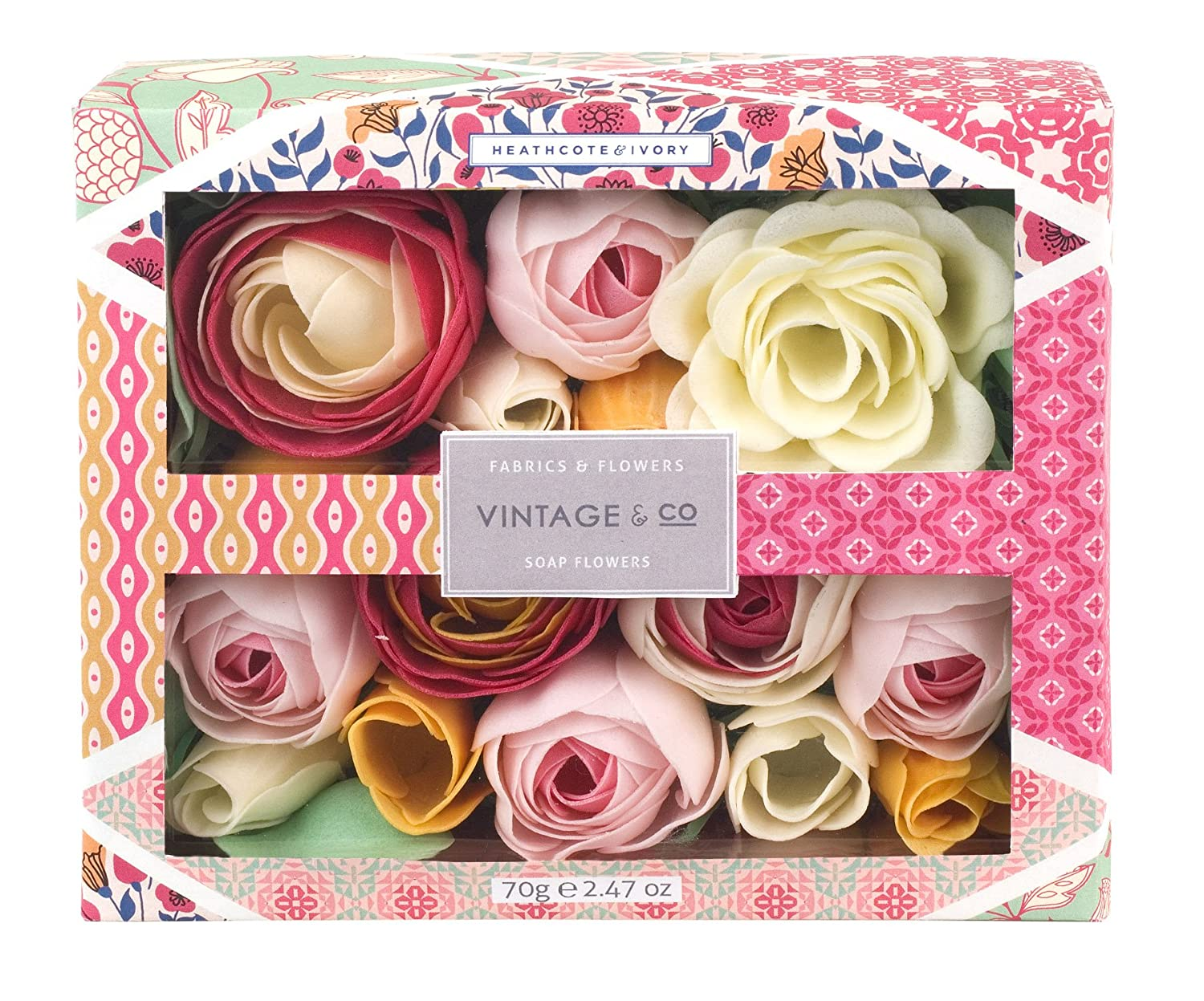 Vintage Co Fabric And Flowers Soap Flowers Amazon Beauty