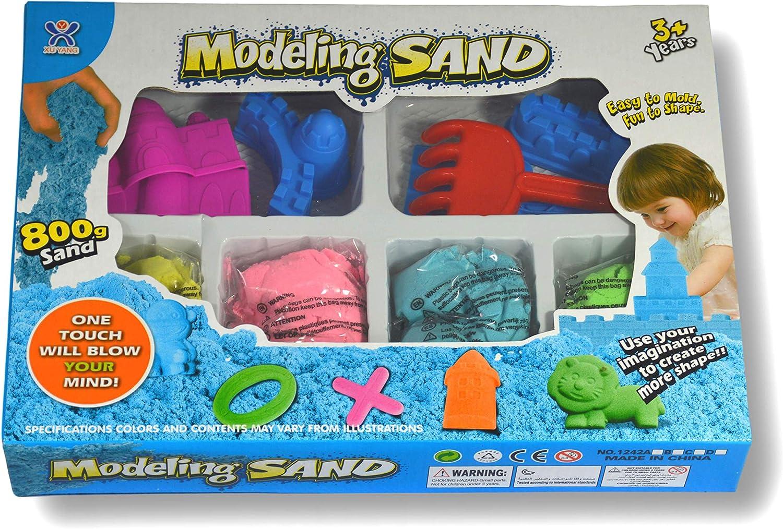 4 colori 800 gr Sabbia magica da modellare Con 10 stampi di castello e utensili