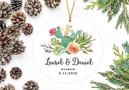 utf4c christmas ornaments 2018 wedding decor boho christmas decor with watercolor cactus