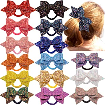 excellent quality quality design on feet at Buy 6 inches Girls Big Bows Hair Clips Large Cheer Bow ...