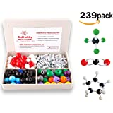 Organic Chemistry Model Kit (239 pieces) - Molecular Model Student or Teacher pack with Atoms, Bonds and Instructional Guide.
