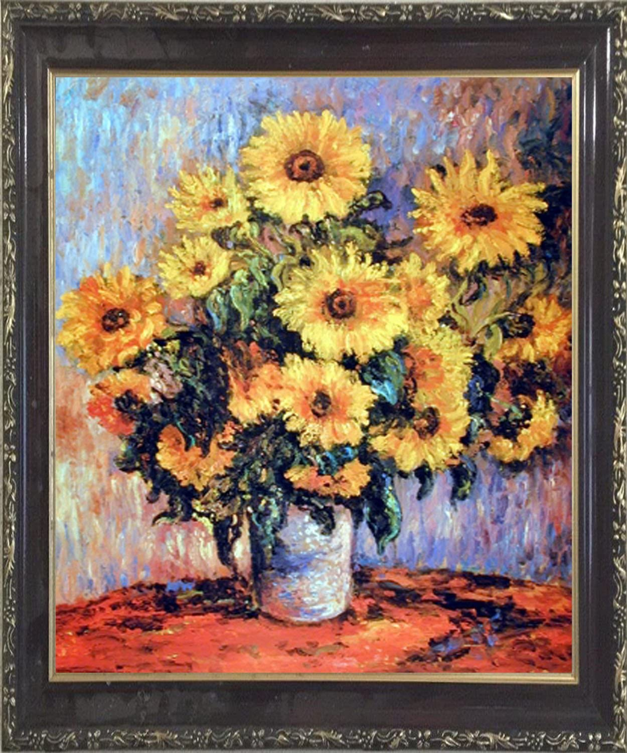 Monet Sunflowers Flower Vase Wall Picture Art Print