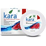 Kara Wipes Nail Polish Remover, Rose (30 Pulls)