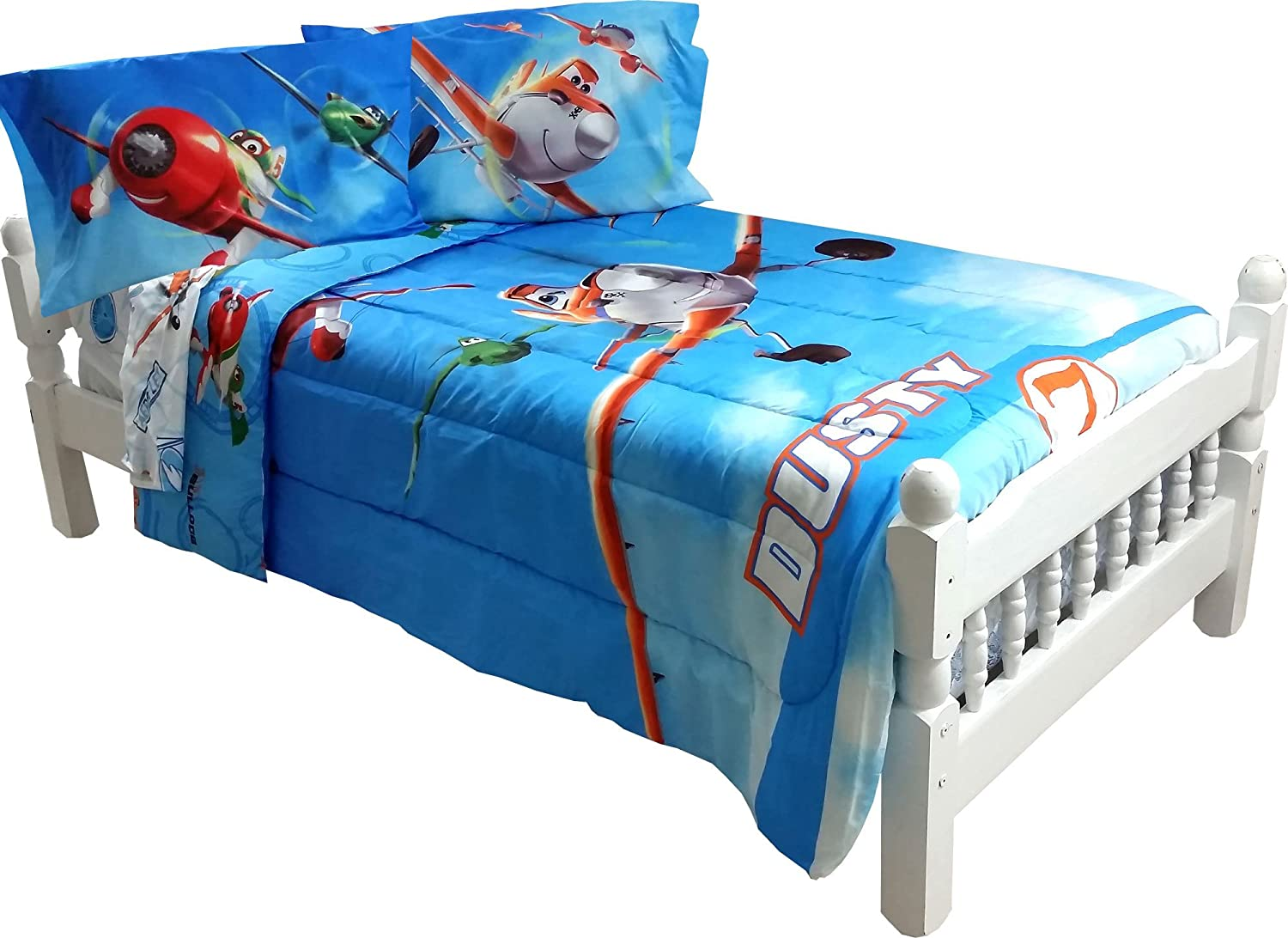 Amazon.com: 5pc Disney Planes Full Bedding Set Dusty Crophopper On Your  Mark Comforter And Sheet Set: Home U0026 Kitchen