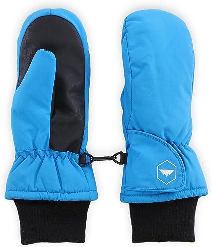 Essentials Boys Kids Water-Resistant Snow Ski Mittens
