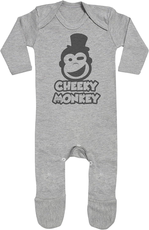 Baby Jumpsuit Baby Sleepsuit SR Baby Romper Cheeky Monkey Baby Rompersuit with Feet Baby Rompersuit