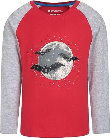 Mountain Warehouse Camiseta Fluorescente para niños - Fibras Naturales, Ligera, Transpirable y de fácil Cuidado - Senderismo, Viajes y Actividades al Aire Libre Rojo 13 Años: Amazon.es: Ropa y accesorios