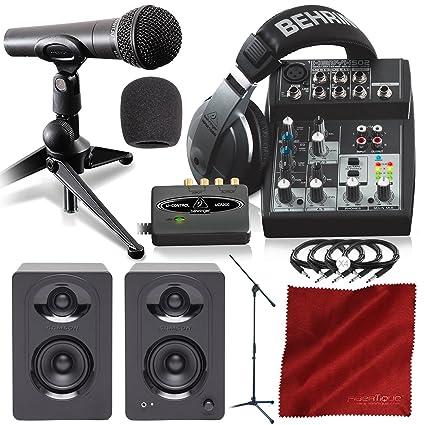 Amazon.com: Behringer podcastudio USB completo Podcast Kit w ...