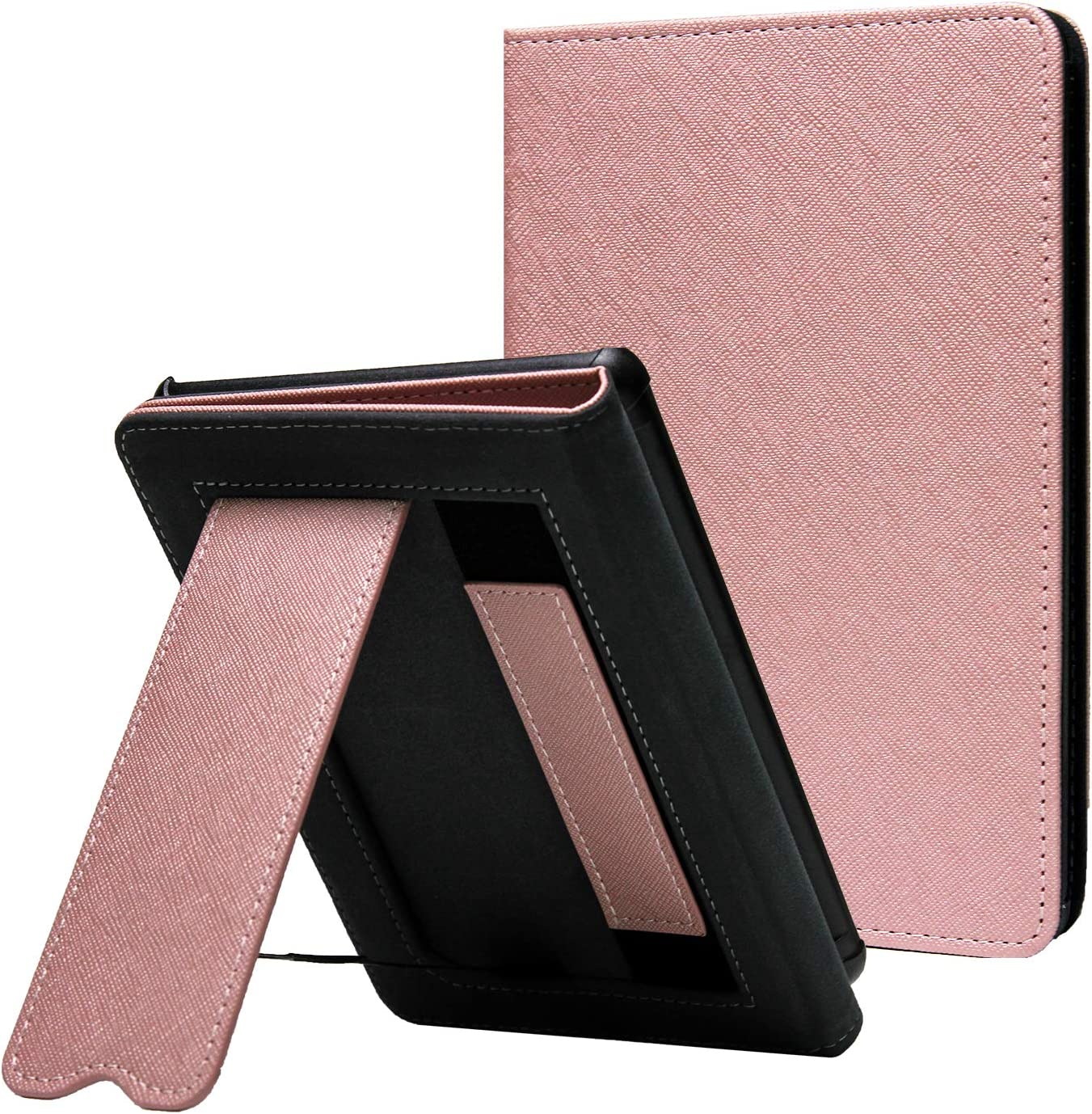 CoBak Case for All New Kindle 10th Generation 2019 Released - Durable PU Leather Smart Cover with Auto Sleep Wake, Hand Strap Feature,Will Not Fit Kindle Paperwhite or Kindle Oasis, Rose Gold.