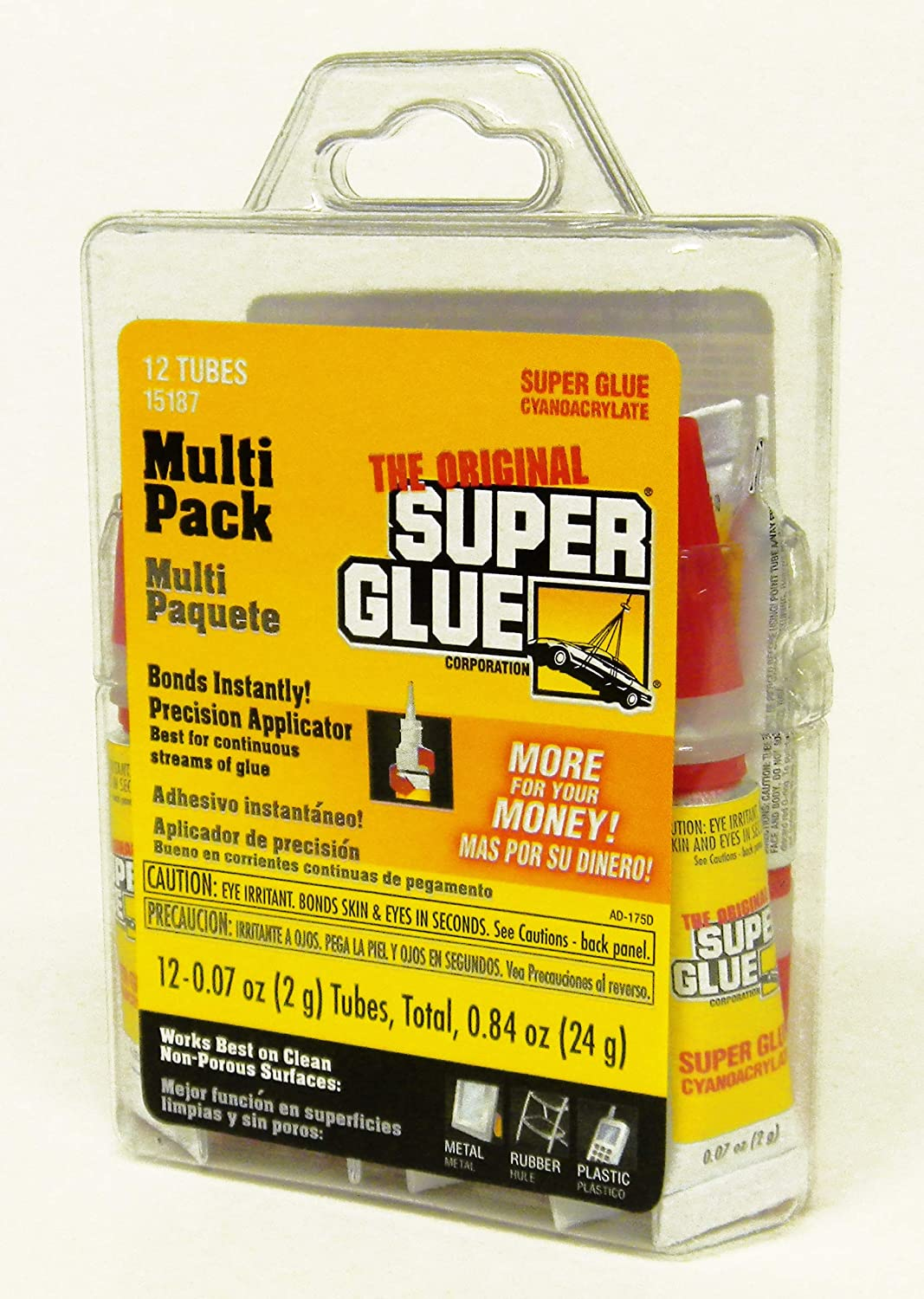 Super Glue 15187, Clear- pack of 12