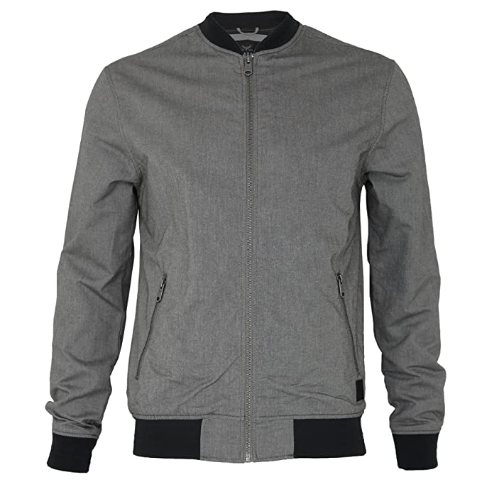 Amazon.com: Mens Threadbare Plain Oxford de béisbol Bomber ...