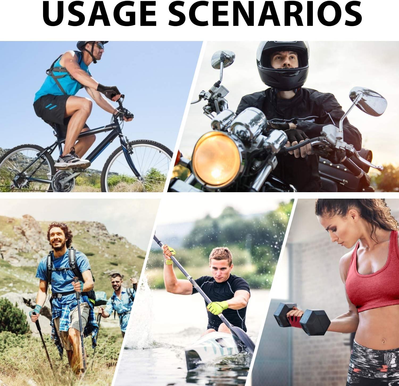 LEMEGO Guantes de Ciclismo para Hombre Mujere Guantes Bicicleta Gimnasio Verano Medio-Dedo Reflexivo Transpirable Antideslizante Acolchado MTB Moto Scooter Deporte C/ámping Excursionismo