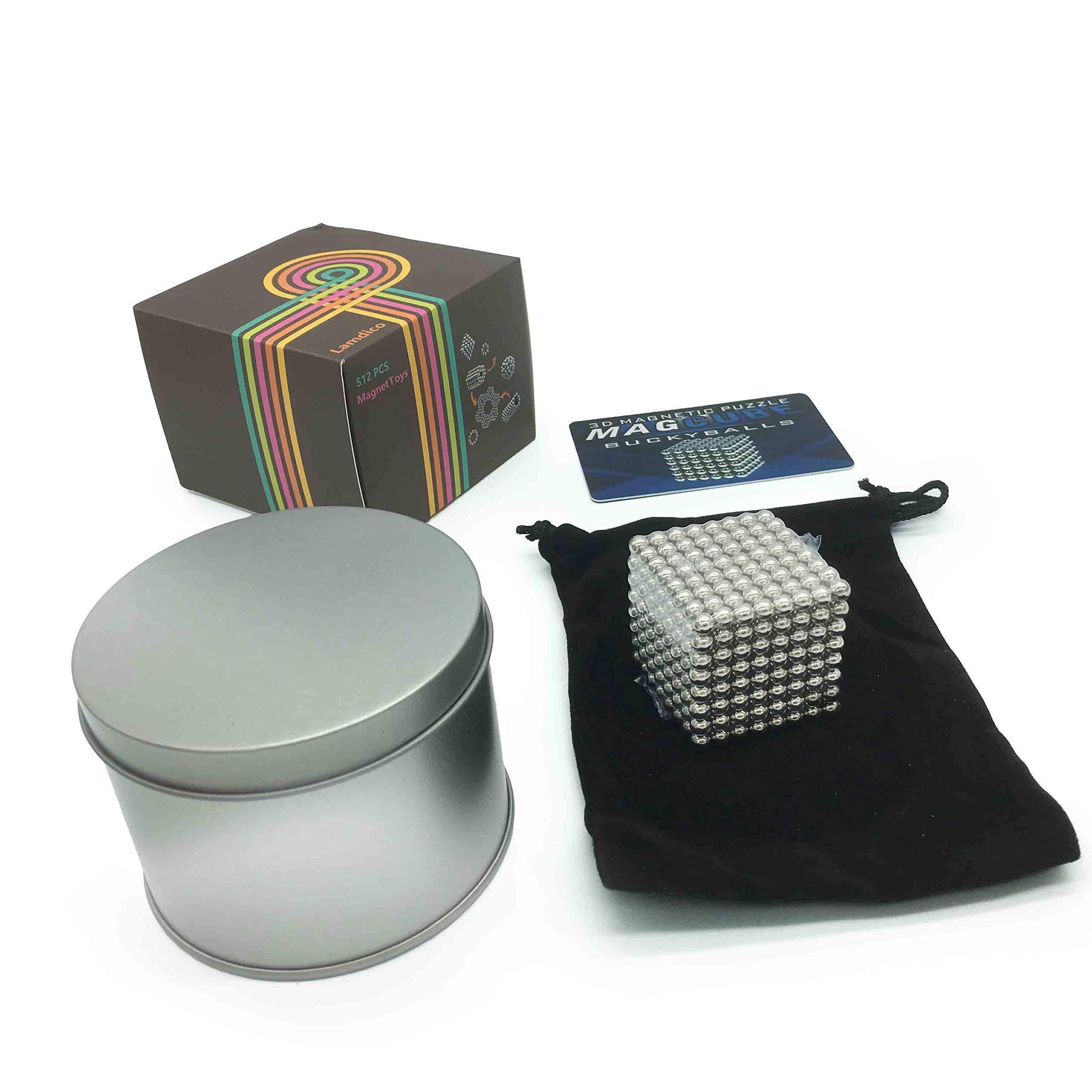 Lamdico Fidget Cube 512 Pcs,Desk Cube for Stress Relief & Creative Inspiration Include Splitter Card and Storage Bag by Lamdico (Image #3)